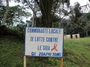 Zouameyong: aids campaign.